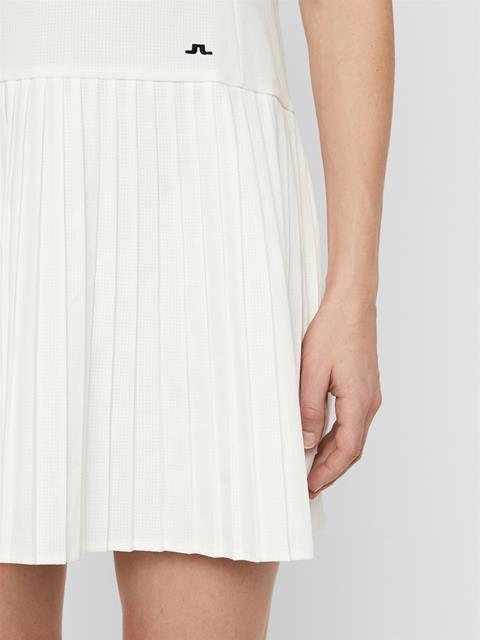 Womens Cora High Vent Dress White