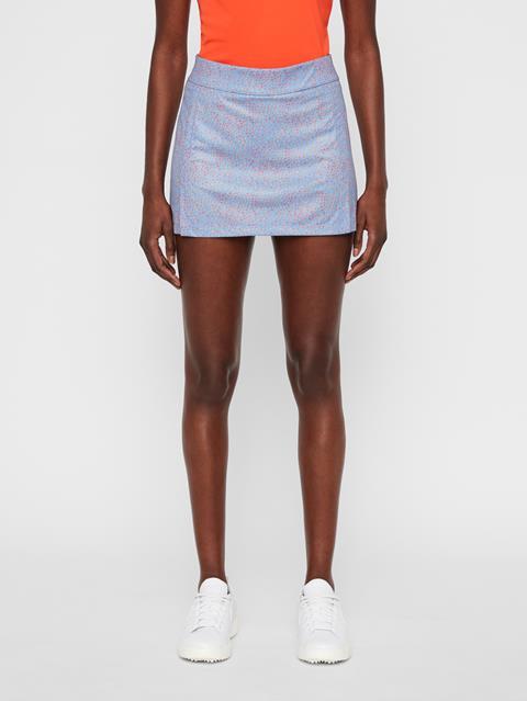 Womens Amelie Print TX Jersey Skirt Lake Blue Dot