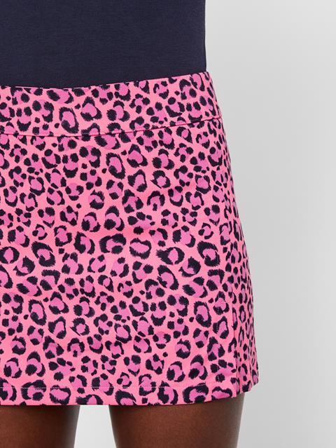 Womens Amelie Print TX Jersey Skirt Pink Leopard