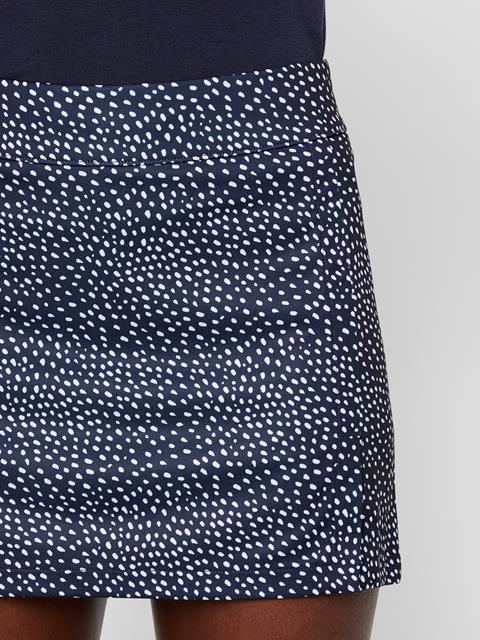 Womens Amelie Print TX Jersey Skirt White Dot