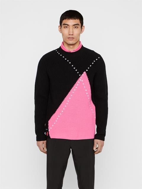 Mens future.archive_Argyle Wool Sweater Black
