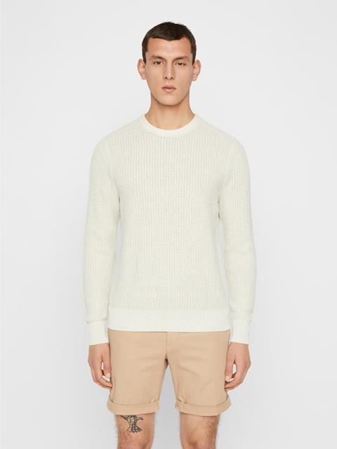 Mens Nestor Cotton Sweater Cloud Grey