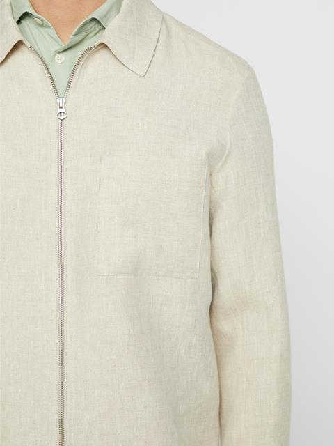 Mens Jason Linen Jacket Cloud Grey
