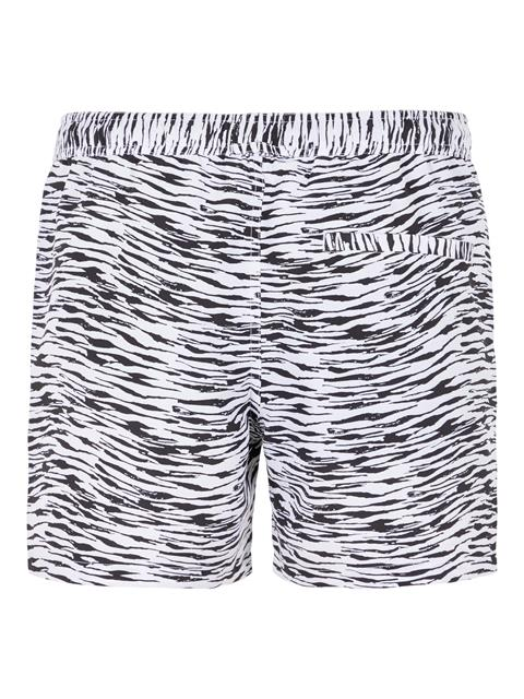 Mens Banks Patterned Swim Trunk Black
