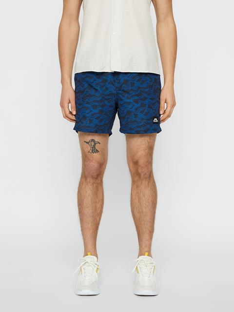 Mens Banks Patterned Swim Trunk JL Navy