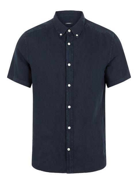 Mens Fredrik Linen Shirt JL Navy