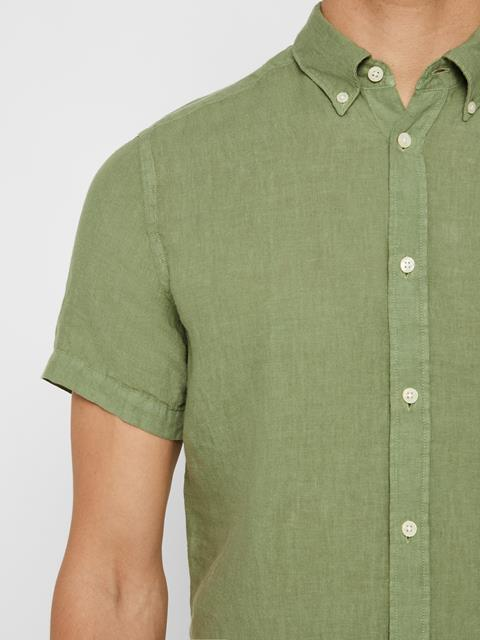 Mens Fredrik Linen Shirt Sage Green