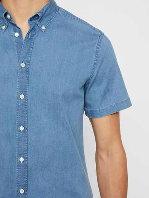 Mens Fredrik Chambray Shirt Skyrim