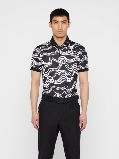 Mens KV Wavy Print Polo WAVE PRINT BLACK
