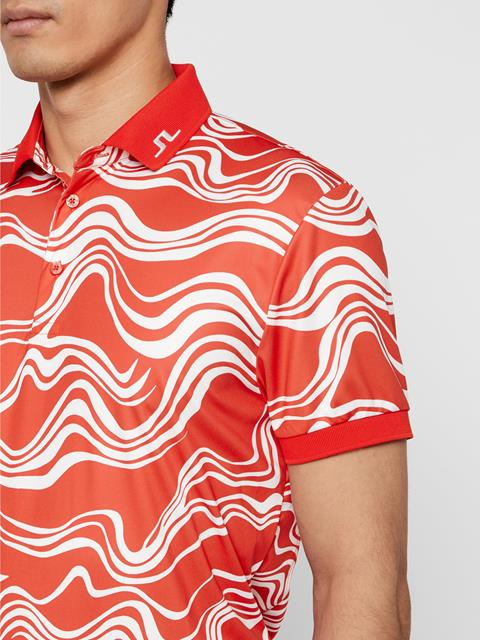 Mens KV Wavy Print Polo WAVE PRINT RED