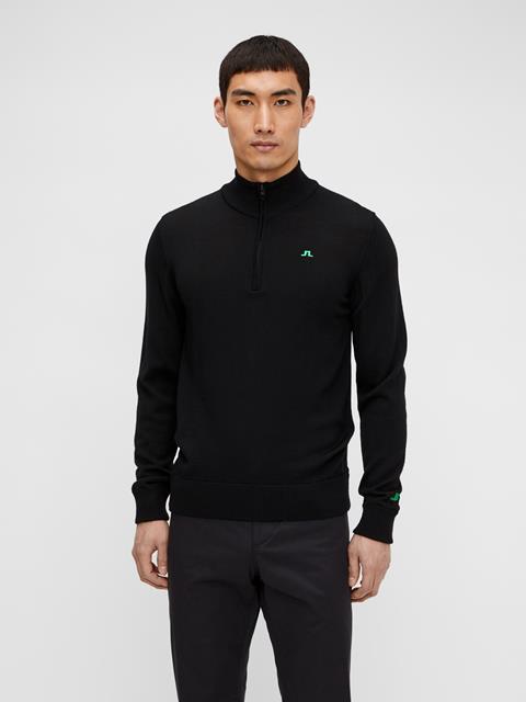 Mens Kian Zipped Sweater Black