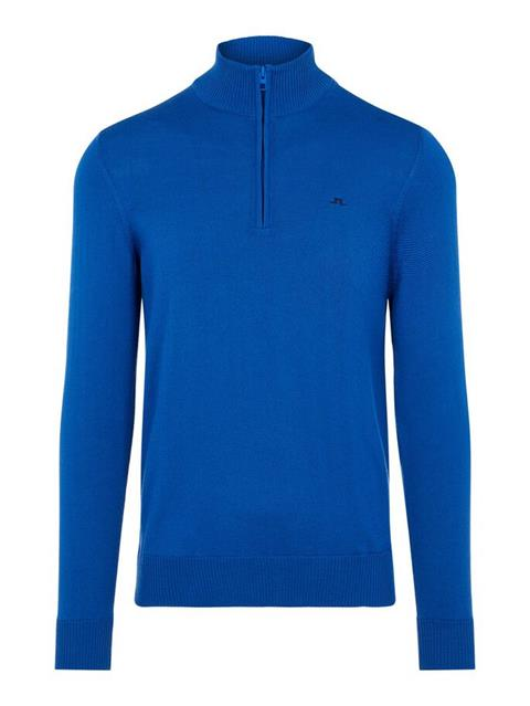 Mens Kian Zipped Sweater Egyptian Blue