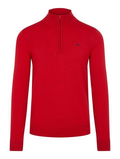 Mens Kian Zipped Sweater Red Bell