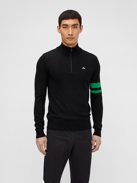 Mens Abel Quarter Zip Sweater Black