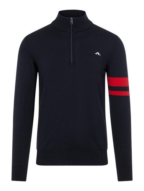 Mens Abel Quarter Zip Sweater JL Navy