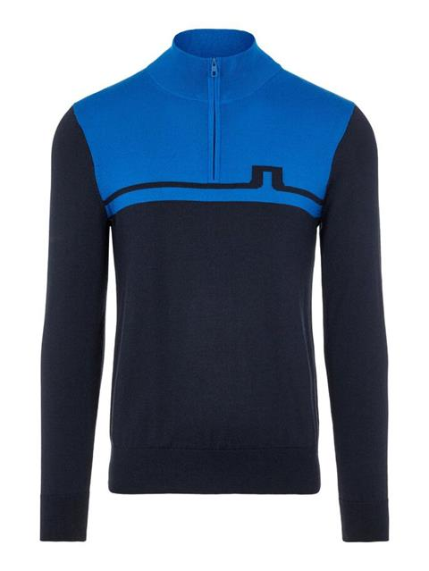Mens Theo Zipped Sweater Egyptian Blue