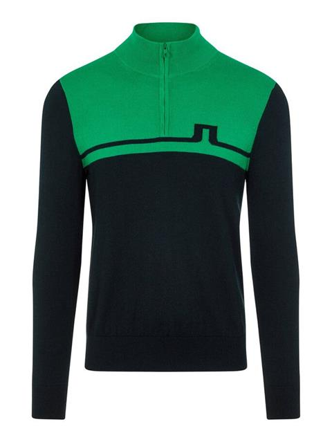 Mens Theo Zipped Sweater Stan Green