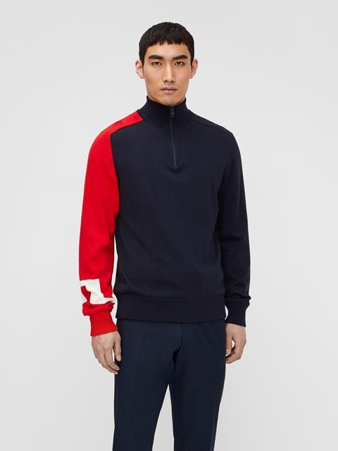 Mens Alexis Zipped Sweater JL Navy