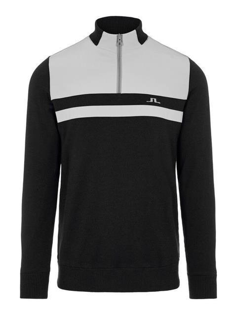 Mens Mathis Zipped Sweater Black