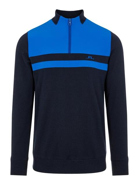 Mens Mathis Zipped Sweater Egyptian Blue