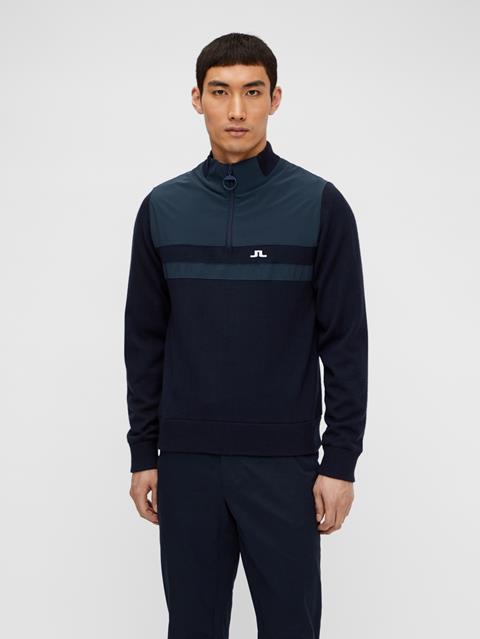 Mens Mathis Zipped Sweater JL Navy