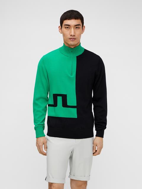 Mens Pierre Zipped Sweater Stan Green