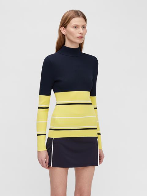 Womens Berthe Striped Sweater Butter Yellow