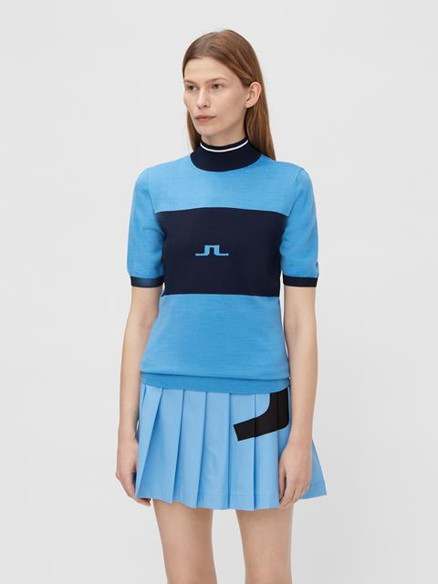 Womens Valerie Striped Sweater Ocean Blue