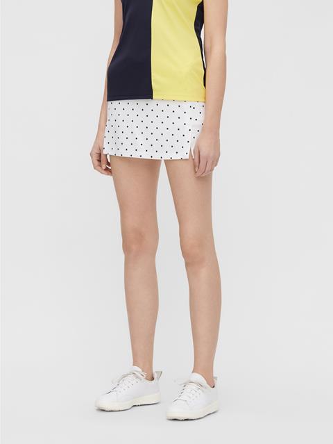 Womens Amelie Print Skirt Navy Dot