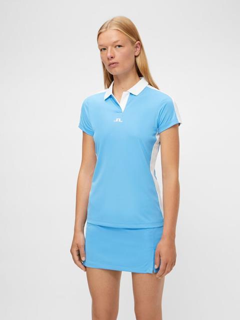 Womens Nour Polo Ocean Blue