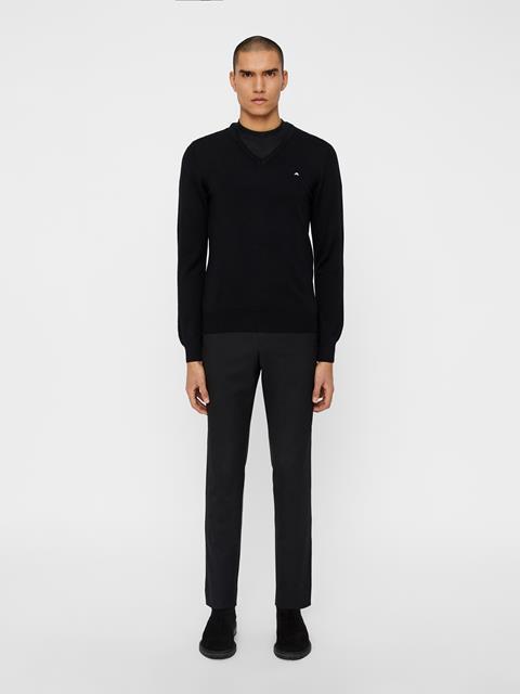 Mens Lymann True Merino Knit Sweater Black