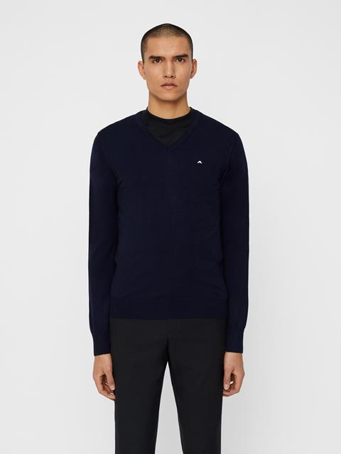 Mens Lymann True Merino Knit Sweater Navy