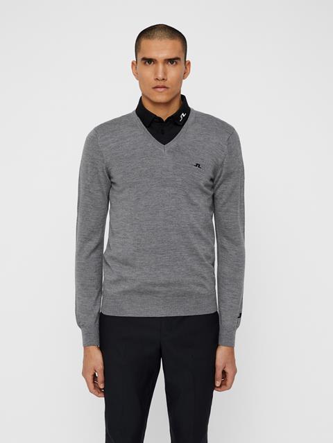 Mens Lymann Tour Merino Sweater Grey Melange