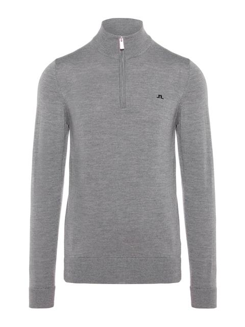 Mens Kian Tour Merino Sweater Grey Melange