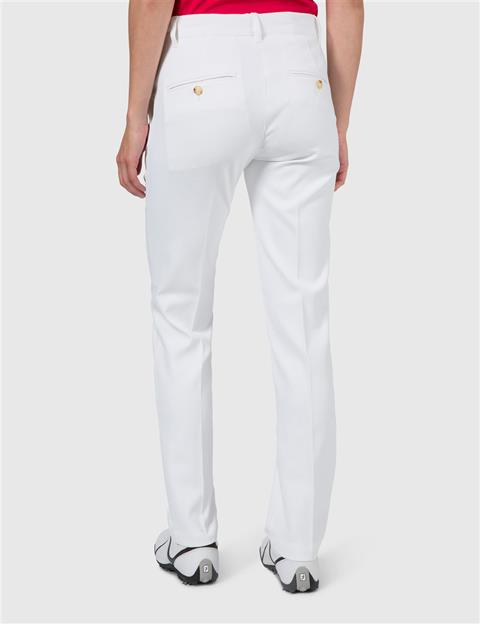 Womens Kay Micro Stretch Pants White