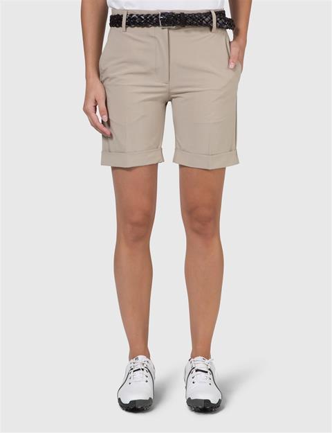 Womens Klara Micro Stretch Shorts Beige