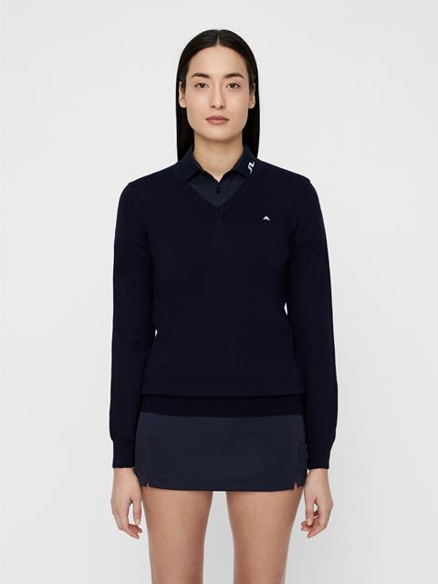 Womens Amaya True Merino Sweater Navy