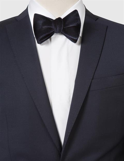 Mens Open Bow-Tie Evening Velvet Dk Navy