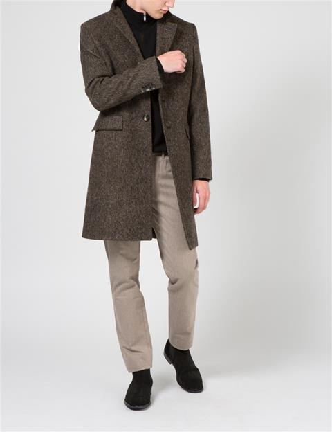 Mens Chaze Flannel Twill Grey/Brown