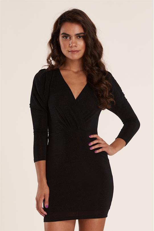 Glitter Designs For Clothing   Sparkle L S Dress Black Discovery Clothing