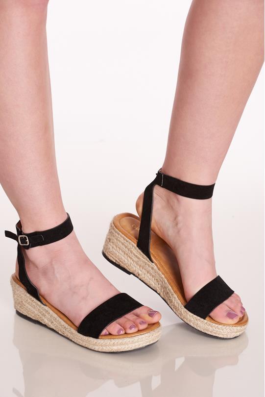 b21a7407b9b Buckled Espadrille Sandals BLACK