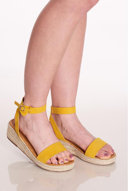 1e8970cfedf Buckled Espadrille Sandals YELLOW