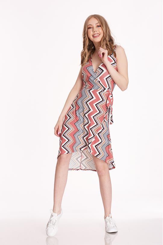 8d7a58cf20c04d Surplice Wrap Dress PINK
