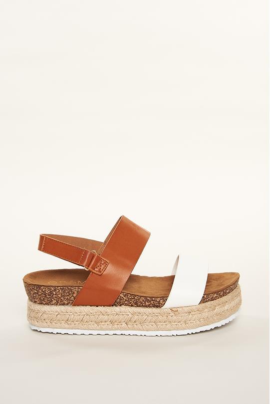 48492bda2c6 Contrast Platform Espadrille Sandals TAN