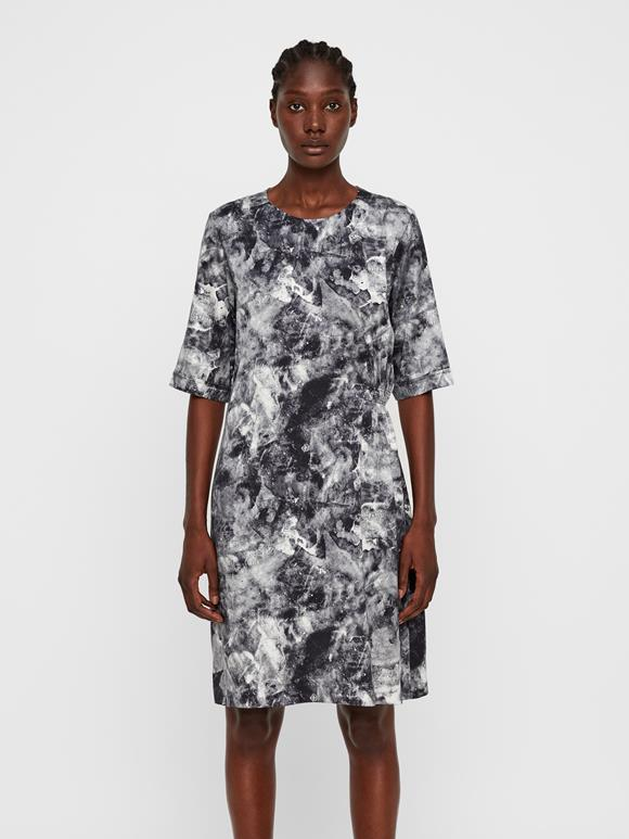 Adele Printed Silk Dress