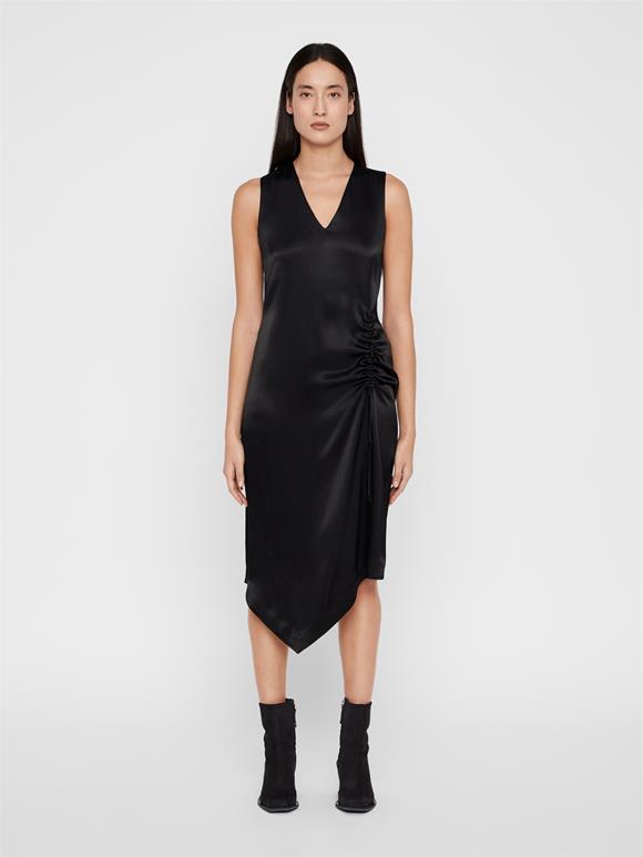 Tara Satin Asymmetrical Dress