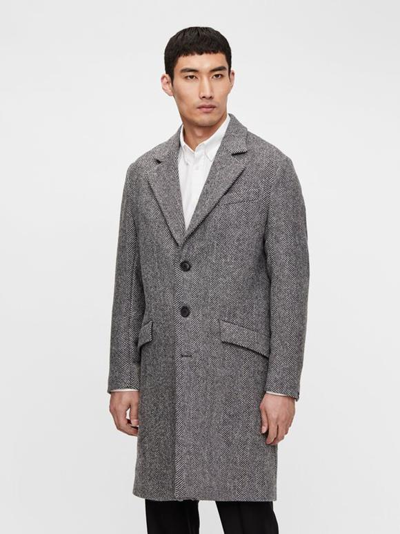 Willem Herringbone Wool Coat