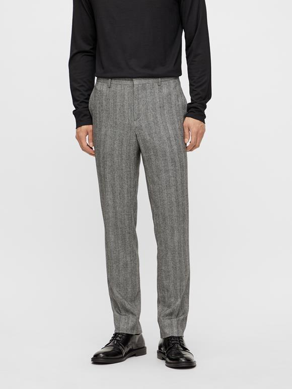 Leo Herringbone Straight Pants