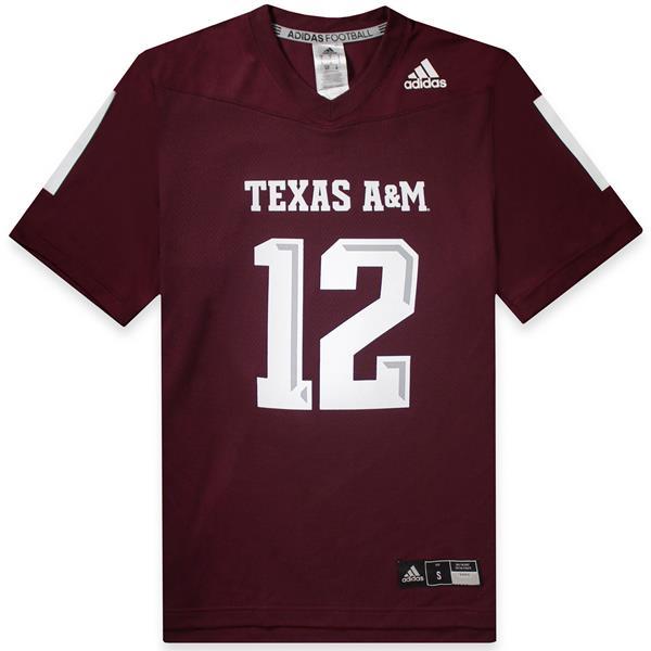 Texas A Amp M Adidas Men S Replica Football Jersey Maroon