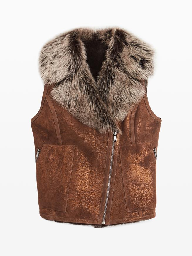 SHEARLING BROWN